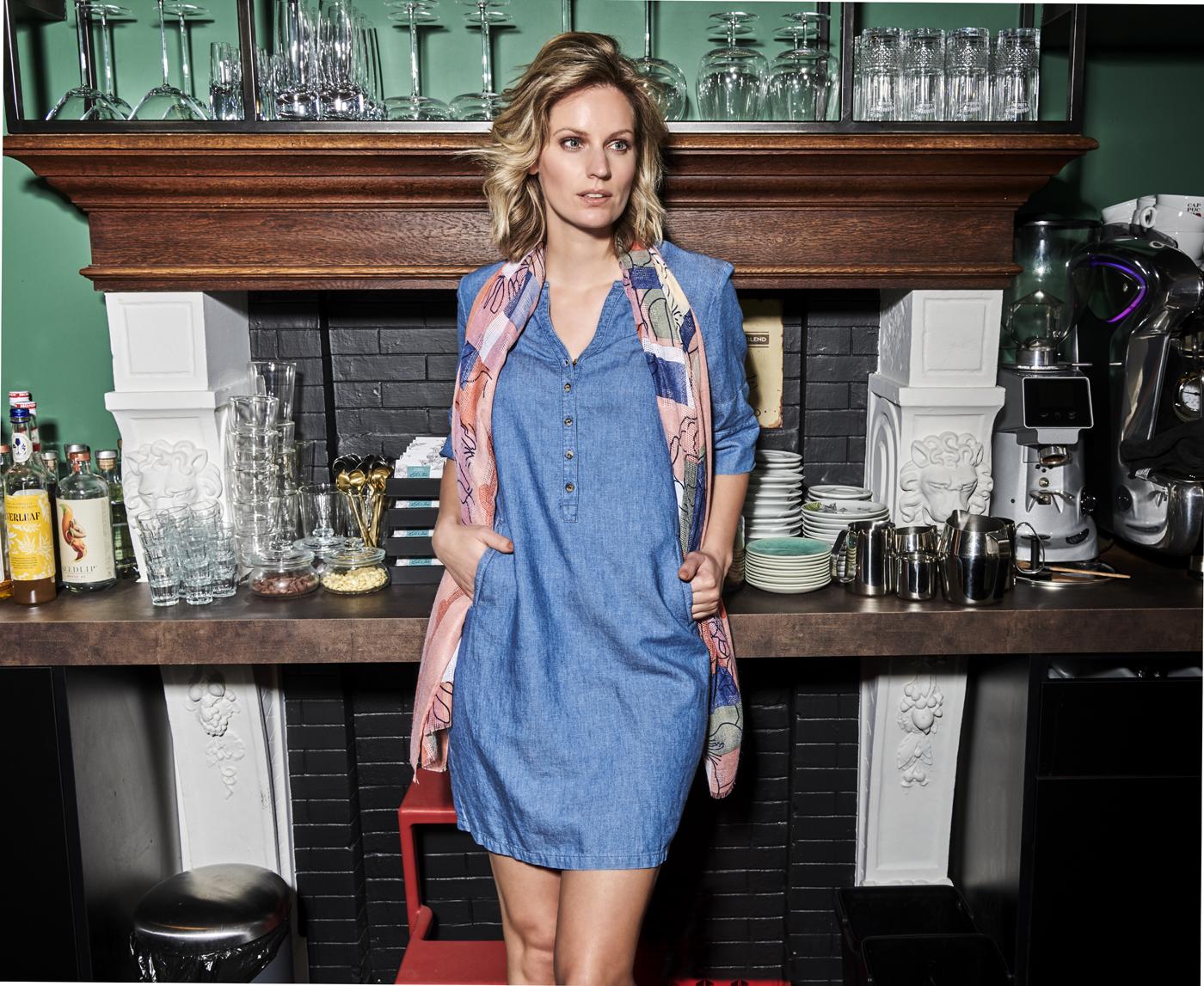 Charlotte Bilzen Comme Ca Dress MALOUX Denimblue