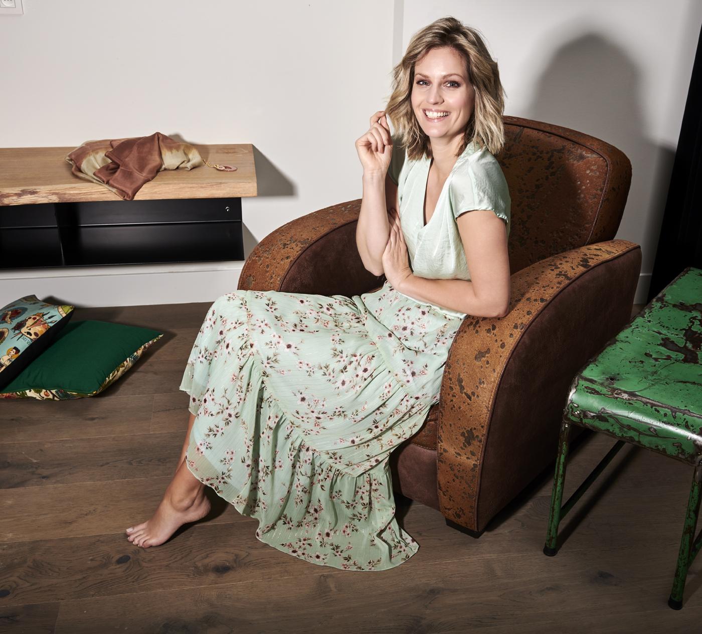 Charlotte Bilzen Comme CaBlouse DORA Mint – Skirt ARUBA 22 Mint